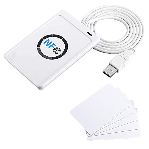 NFC RFID Smart-IC-Kartenleser/-schreiber ACR122U ISO 14443A/B + Kostenlose Software im White SDK 5xMifare IC