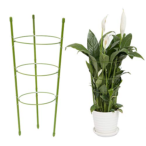 YiTai Plant Support Cages 17.7 Inches Plant Cages with 3 Adjustable Rings,...