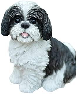 Hi-Line Gift Ltd Sitting Dog - Shih Tzu black and White