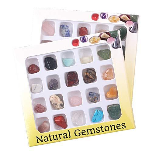 DIYARTS 20 Teile/Satz Mineral Ornament Natürlichen Kristallerz Probe Kunsthandwerk Grundschule Natürliche Geographie Lehrmaterialien