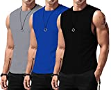 LecGee Men's Performance Quick-Dry Sleeveless Shirt Workout Muscle Bodybuilding Tank Top
