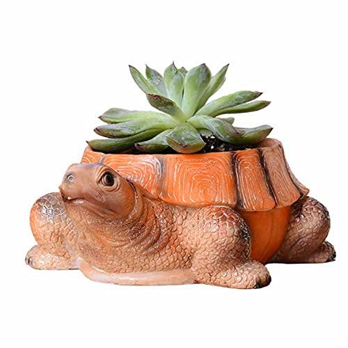 Maceta Para Plantas Creativas, Maceta de Resina Creativa de Tortuga Maceta de Interior al Aire Libre DecoracióN Artesanal JardineríA Casera Muebles