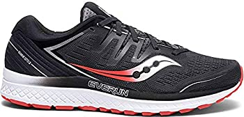 Saucony Men's Guide ISO 2 Running Shoe, Black | Grey, 7 M US
