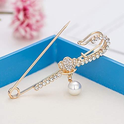 Broche cristalina del Rhinestone de la nueva flor colgante pernos de clips rebeca de las mujeres de la bufanda de la hebilla sombrero ropa sencilla Pin de la solapa Accesorios ( Color : A 7 )