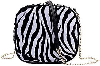 SODIAL Simple Casual Print Small Bags Fashion Girls Shoulder Messenger Bags Crossbody Bag for Women,Zebra