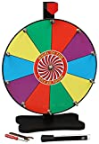 Prize Wheel 12 Inch-Tabletop Color Spinning Wheel with Stand, 10 Slots, Customize with Inc...