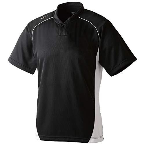 ミズノ(MIZUNO) グローバルエリート ベースボールシャツ・小衿・ハーフボタン 12JC6L11 09 ブラック/ホワイト 2XO