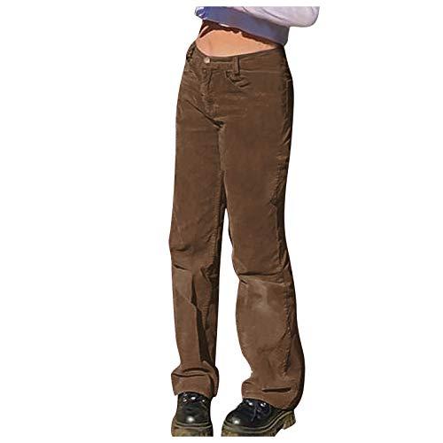 Pantalones Casuales de Pana para Mujer Pantalones Al Aire Libre CáLidos Y CóModos