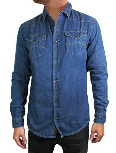 Armani Jeans Amicia Indigo Dyed Denim Shirt-XXL