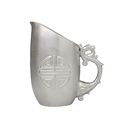 Teapot Antique Zodiac Sterling Silver Long White Wine Decanter Wine Set Manual Scalding Household Warm Jug