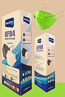 10pcs Green Color KF94 Disposаble Face Mask CE FDA Certified Coronàvịrụs 5 Layer Protectịon Adult's Filtеr Fàce Màsk - KF9...