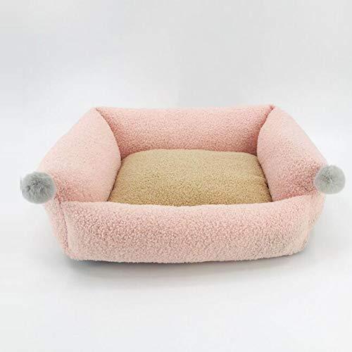 BKONF Cama para Perros de Felpa súper Suave y acogedora - Duradero Lavable Antideslizante Perro Gato Cama para Perros Cómoda para Dormir en Invierno