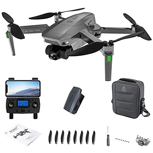 SG907 Max Collassabile Fotografia Aerea Drone 4K HD,5G WiFi GPS,3 Assi EIS Gimbal,Doppia Fotocamera,Senza Spazzole RC Drone,25 Minuti di Volo,con Valigetta