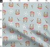 Katzenbabys, Rosa Und Braun, Winter, Schneeflocken, Schnee
