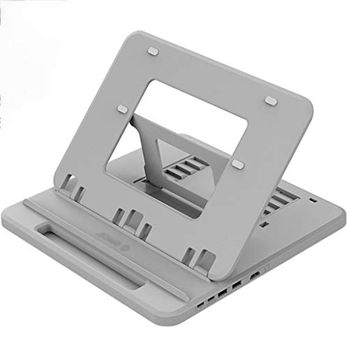 Laptop Stand Computer Stand Computer Laptop Holder Notebook Stand Type-C Docking Station Expansion USB Adapter Computer Bracket Desktop Heightening Bracket Laptop Cooler (Color : Gray C)