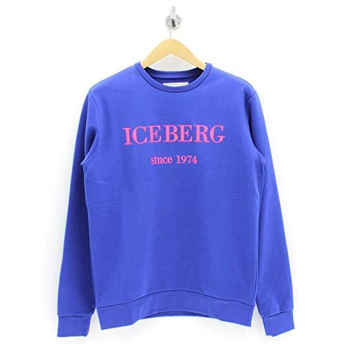 Iceberg Sweatshirt, gesticktes Logo, Blau Gr. XL, blau