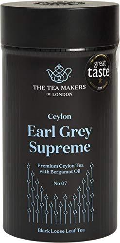 The Tea Makers of London  edelster hochwertiger Earl Grey 125g lose Blätter Schwarzer Tee von prämiertem Teekontor, 1er Pack (1 x 125 g)