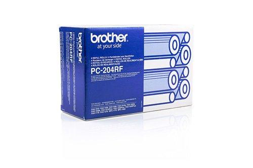 4x Brother PC-204 RF , PC204RF / Original Thermo-Transfer-Rollen Schwarz