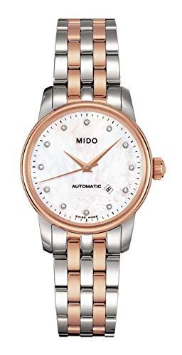 MIDO Baroncelli II M76009691 - Reloj de Mujer automático, Correa de Acero Inoxidable Color