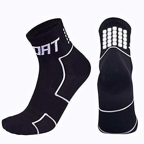 Vobery Calcetines para Hombre,Calcetines Deportivos para Hombres,Mujeres,Calcetines Tobilleros para Correr,Calcetines Deportivos,Calcetines Deportivos de Compresión de Rendimiento(Negro,XL)