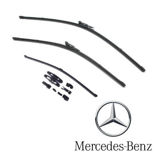 AOQ – Spazzole tergicristallo anteriori e posteriore set da 3 - Mercedes Classe A B C E (non originale)