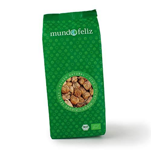 Mundo Feliz - Lot de 2sachets de figues séchées bio, 2x500g