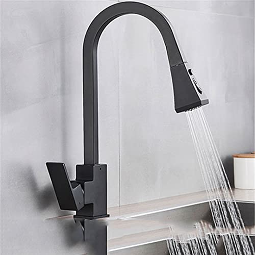 Pull Out Sensor Kitchen Faucets Stainless Steel Smart Induction Mixed Tap Rotate Touch Control Sink Tap Torneira Black No Touch
