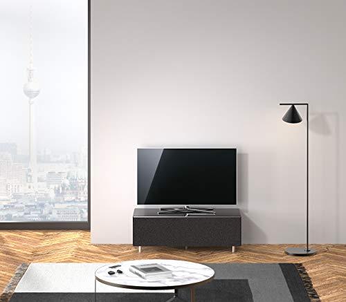 SPECTRAL® Just-Racks Sound-Lowboard JRL1104T mit Stoffklappe inkl. Universal Soundbar Ablage, Breite 111 cm, Black…