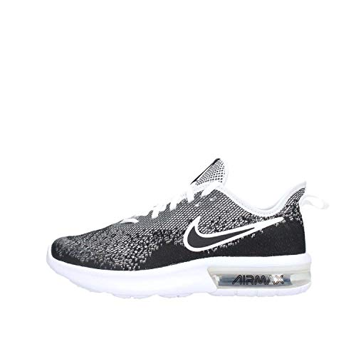 Nike Kid's Air Max Sequent 4 GS, Black/Black-White, Youth Size 4