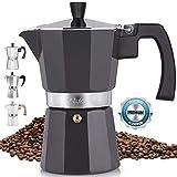 Zulay Classic Stovetop Espresso Maker for Great Flavored Strong Espresso, Classic Italian Style 5.5 Espresso...