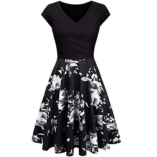x8jdieu3 Sommerliches Schmales Kleid Mit Blumendruck Und Hoher Taille