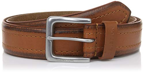 United Colors of Benetton Men's Leather Belt (0IP6AM35CB12I-50S- Tan_32)