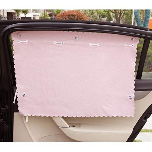Handmatige luifel-LiuJF auto zonnescherm, in de auto gordijn zijvenster schaduw zon bescherming dikker effen kleur vlas auto gordijn 2 stks zon-reflector