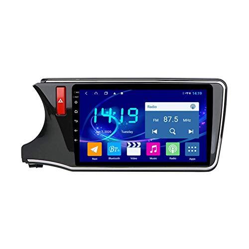 Coche Estéreo Para Honda City 2015-2018 Unidad De Cabeza 1080P HD Pantalla Táctil Multimedia Audio Video Player SAT NAV RADIO Soporte 4G WIFI SWC DSP Carplay GPS Navegación,8 core 4g+wifi: 4+64gb