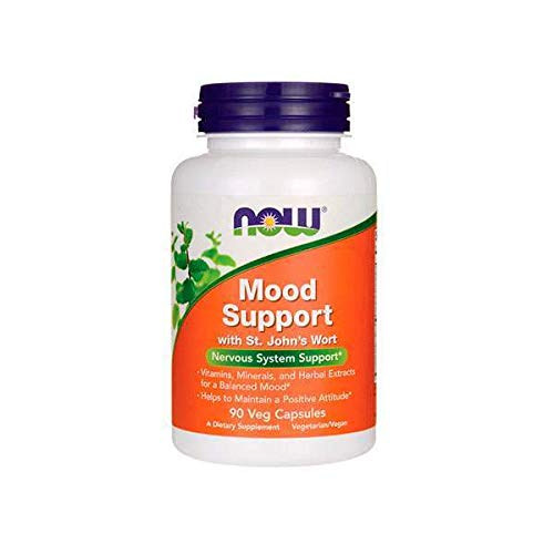 NOW Supplements, Mood Support with St. John's Wort, Nutrient and Herbal Extracts, 90 Veg Capsules