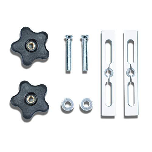 POWERTEC 71394 Miter Slot Hardware Kit | Fixture Locking Woodworking Jigs & Accessories