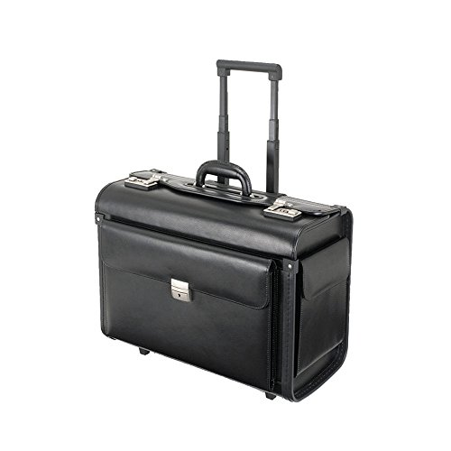 Alassio 92301 - Pilotenkoffer SILVANA, aus Lederimitat, ca. 48 x 39,5 x 23 cm, schwarz
