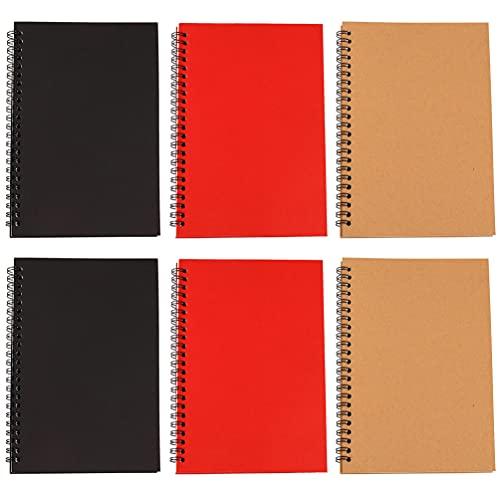 STOBOK 6 cuadernos de espiral A5 cuadernos de cuaderno con encuadernación de alambre, cuadernos de diario, planificador para el hogar, escuela, oficina, dibujo y escritura