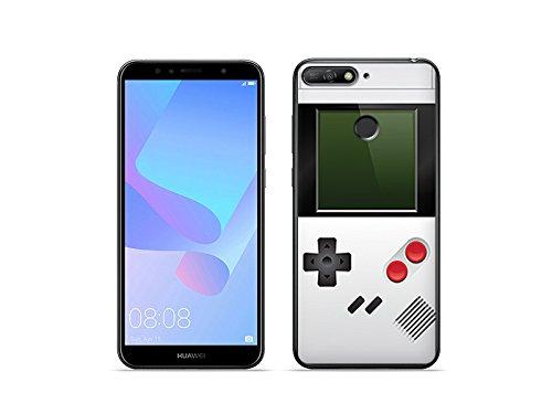 etuo Handyhülle für Huawei Honor 7A - Hülle Fantastic Hülle - Weißes Game Boy - Handyhülle Schutzhülle Etui Hülle Cover Tasche für Handy