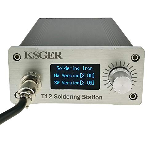 KSGER T12 Soldering Station OLED DIY Kits STM32 V2.01 Temperature Controller Electronic Welding Iron Tips 907 Handle CNC Aluminum Alloy Case Power Equipments 110V T12-K ILS Tips
