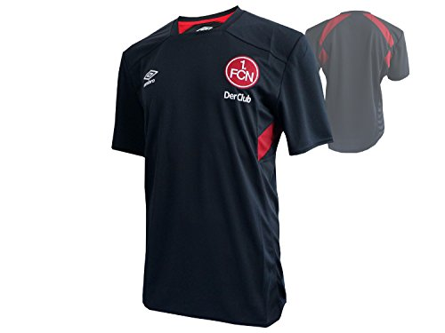 UMBRO Erwachsene Fc Nurnberg Training Ss Team Jersey, Black/Biking Red, S