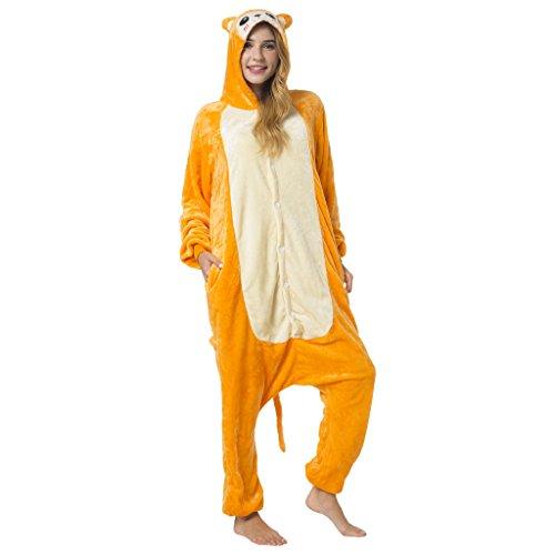 Katara-(10+ Modelos Kigurumi Pijamas Disfraz Animal Halloween Adultos, Color mono, Talla 175-185cm (1744)