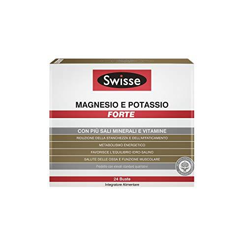 Swisse Magnesio e Potassio Forte, Integrazione di Sali minerali, 24 Bustine