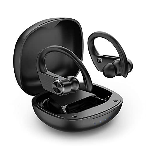 S15 Bluetooth Kopfhörer Sport kopfhörer kabellos IPX7 Wasserdicht Sport kopfhörer in Ear Joggen/Laufen mit Integriertes Mikrofon, 25 Stunden Spielzeit, Bluetooth 5.0 für Apple Huawei Samsung