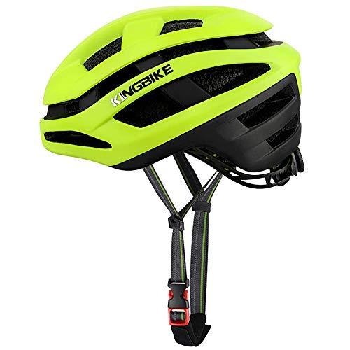 Unisex Adulto casco ajustable de la bici con la red del insecto de doble capa, hombres y mujeres deportes al aire libre y en bicicleta con casco de borde envuelta, lavable, 25 Vents 54-58cm, green1 ro