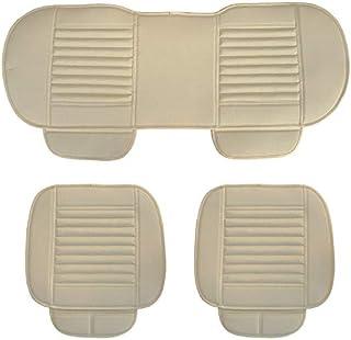 mewmewcat Cobertura de assento de carro geral Four Seasons Assentos de bambu respirável a carvão e almofadas de acessórios...