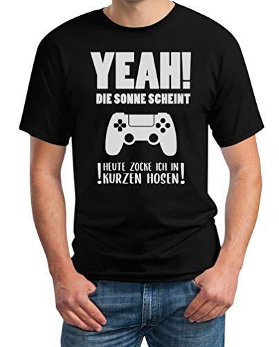 Gamercadeau - Vandaag vok ik in korte broeken heren T-shirt