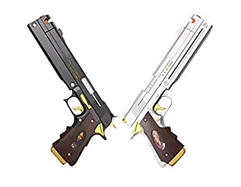 New Game Dante Ebony and Ivory Foam Gun Hand Cannon Prop Cosplay Game Anime Xmas  Black & Silver Set