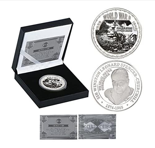 ZKPNV Monedas Conmemorativas Monedas Coleccionables De La Segunda Guerra Mundial, Soporte para Monedas Conmemorativas Militares, Monedas Originales Alemanas, Regalos para Hombres