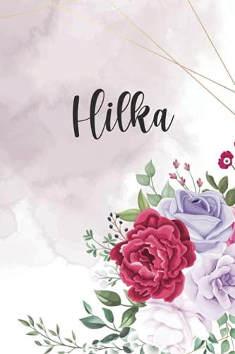 Hilka: Personalisiertes Notizbuch im Blumen Design Tagebuch Journal Dankebuch Notizheft. Individuelles Geschenk für Frauen & Mädchen